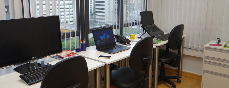 Sala privativa com vantagens de escritório compartilhado